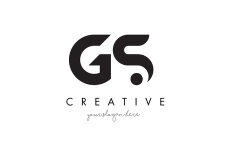 gt: GS Letter Logo Design with Creative Modern Trendy Typography and Black Colors.