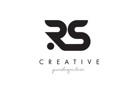 RS Letter Logo Design with Creative Modern Trendy Typography and Black Colors. 일러스트