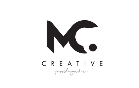 mc: MC Letter Logo Design with Creative Modern Trendy Typography and Black Colors.