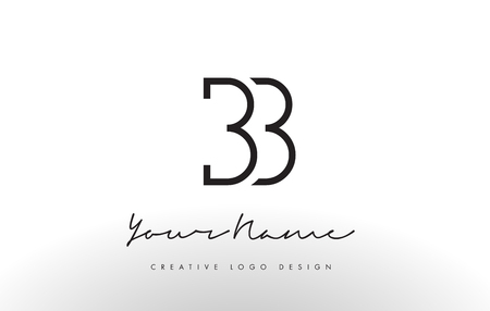 BB Letters Logo Design Slim. Simple and Creative Black Letter Concept Illustration.
