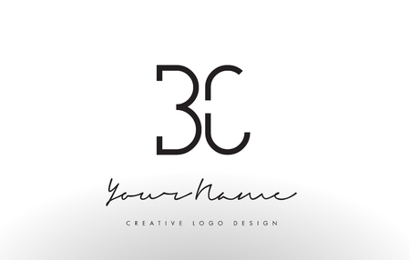 bc: BC Letters Logo Design Slim. Simple and Creative Black Letter Concept Illustration.