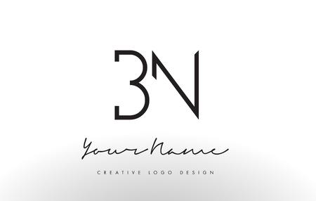 BN Lettres de logo Slim. Illustration simple et créative Noir Lettre Concept.