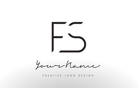 FS Letters Logo Design Slim. Simple and Creative Black Letter Concept Illustration.