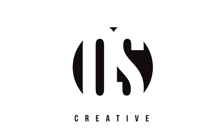 qs: QS Q S White Letter Logo Design with Circle Background Vector Illustration Template. Illustration