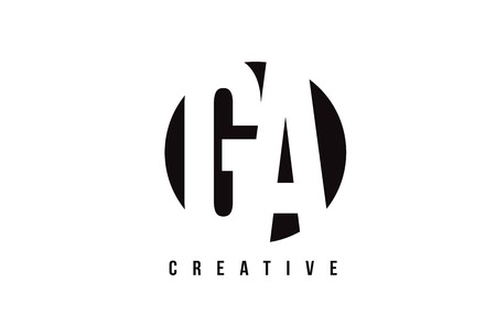 GA G A White Letter Logo Design with Circle Background Vector Illustration Template.