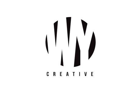 WY WY 서신 배경 벡터 일러스트 템플릿으로 흰색 편지 로고 디자인.