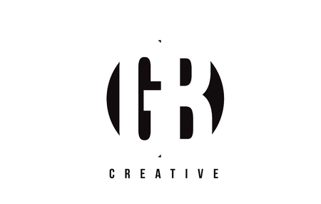 GB G B White Letter Logo Design with Circle Background Vector Illustration Template.