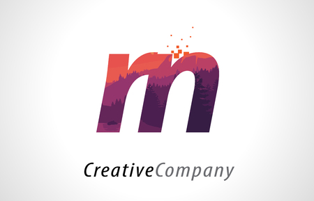 Rn r n letter logo design with purple orange forest texture flat rn r n letter logo design with purple orange forest texture flat vector illustration stock vector altavistaventures Images