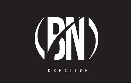 bn: BN B N White Letter Logo Design with White Background Vector Illustration Template.