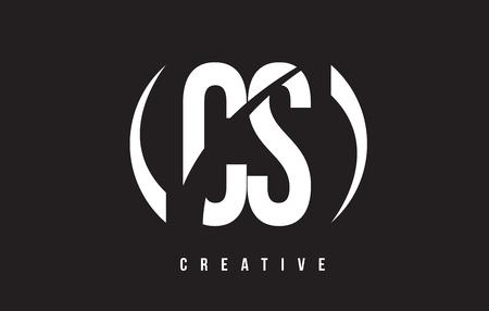 cs: CS C S White Letter Logo Design with White Background Vector Illustration Template. Illustration
