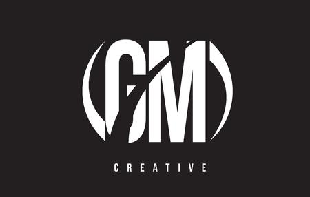 gm: GM G M White Letter Logo Design with White Background Vector Illustration Template. Illustration