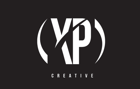 XP X P White Letter Logo Design with White Background Vector Illustration Template. Illustration