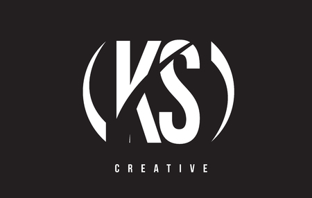KS K S White Letter Logo Design with White Background Vector Illustration Template. Ilustrace