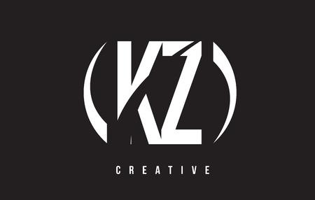 kz: KZ K Z White Letter Logo Design with White Background Vector Illustration Template. Illustration
