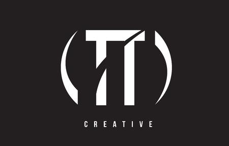 TT T White Letter Logo Design with White Background Vector Illustration Template.