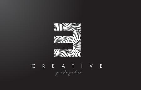 ei: EI E I Letter Logo with Zebra Lines Texture Design Vector Illustration.