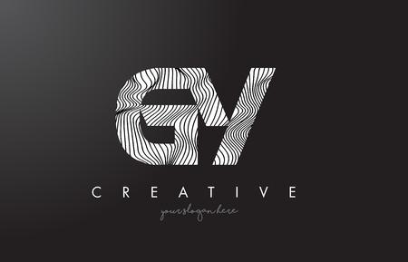 GY G Y Letter Logo with Zebra Lines Texture Design Vector Illustration. Logó