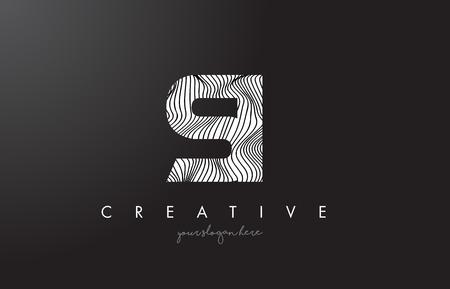 è la lettera logo con le linee di zebra design illustrazione vettoriale di design