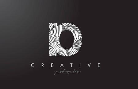 IO I O Letter Logo with Zebra Lines Texture Design Vector Illustration. Illustration