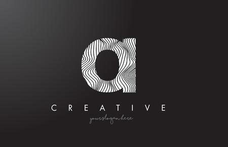 OI O I Letter Logo with Zebra Lines Texture Design Vector Illustration.