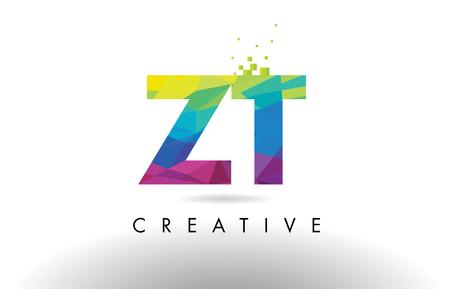 ZT ZT Yaratıcı Origami Üçgenleri Rainbow Vector ile Renkli Mektup Tasarımı.