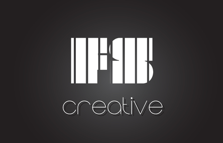 FS F S Creative Letter Logo Design With White and Black Lines.