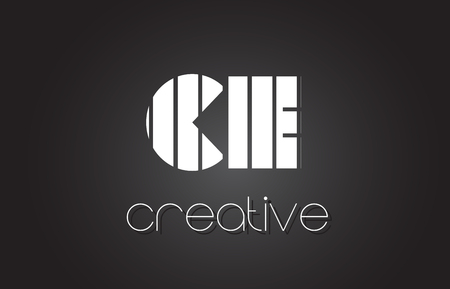 CE C E Creative Letter Logo Design With White and Black Lines.