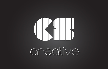 CS C S Creative Letter Logo Design With White and Black Lines.