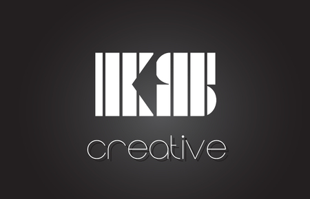 KS K S Creative Letter Logo Design With White and Black Lines. Ilustrace
