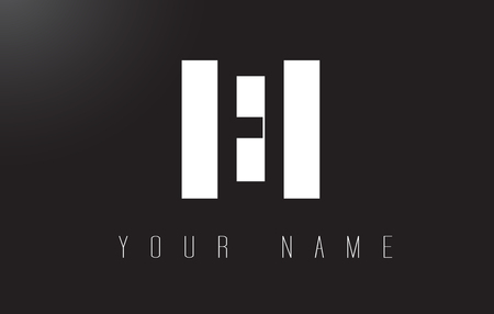 ei: EI Letter Logo With Black and White Letters Negative Space Design.