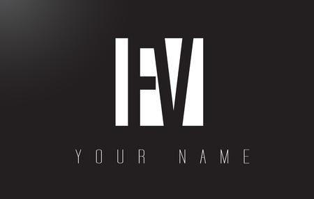 fv: FV Letter Logo With Black and White Letters Negative Space Design.