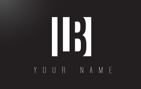 LB Letter Logo With Black and White Letters Negative Space Design. Ilustração