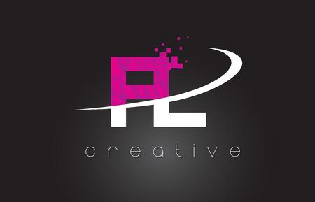 FL creative letter design. Illustration