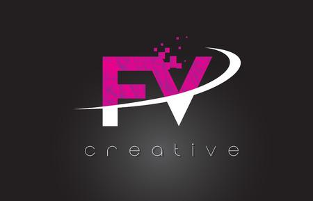 fv: FV creative letter design.