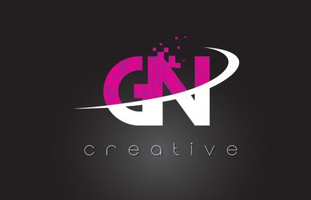 GN Creative Letters Design Vektoros illusztráció
