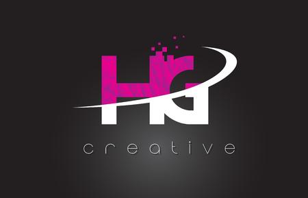 HG Creative Letters Design. 向量圖像