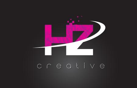 HZ H Z Creative Letters Design. White Pink Letter Vector Illustration. Vektoros illusztráció