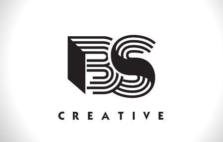 El Negro De Las BS Enmarca El Logotipo De La Letra. Creative Línea ...