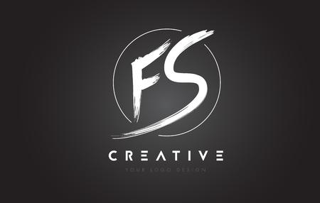 FS Brush Letter Logo Design. Artistic Handwritten Brush Letters Logo Concept Vector. Ilustração