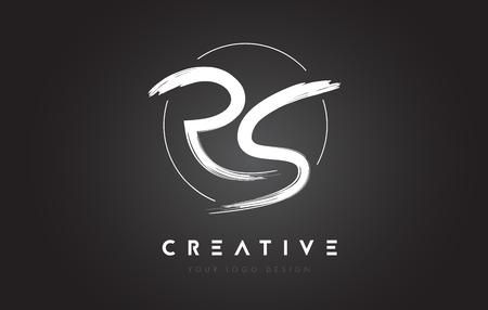RS Brush Letter Logo Design. Artistic Handwritten Brush Letters Logo Concept Vector. Illustration