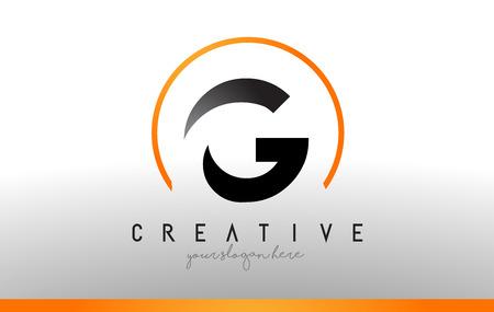 Letter G Logo Design with Black Orange Color.