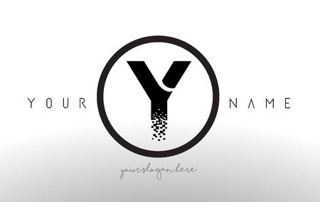 Y letter logo design with black orange color cool modern icon 87071513 y logo letter with digital pixel tech design vector and black circle modern look vector illustration altavistaventures Image collections
