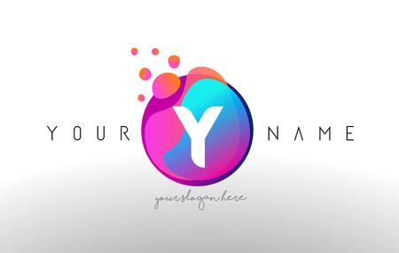 Y letter logo design with black orange color cool modern icon y dots letter logo with bubbles a letter design vector with vibtant blue orange magenta altavistaventures Images