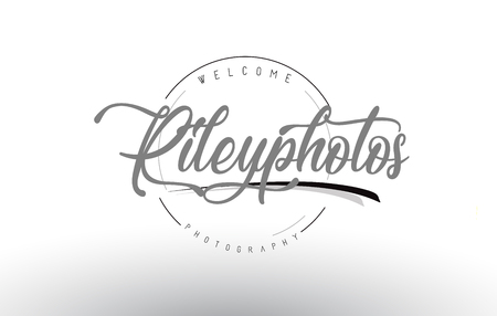 Riley personal photography logo design with photographer name and handwritten letter design.