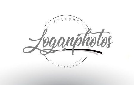 Logan personal photography logo design with photographer name and handwritten letter design.