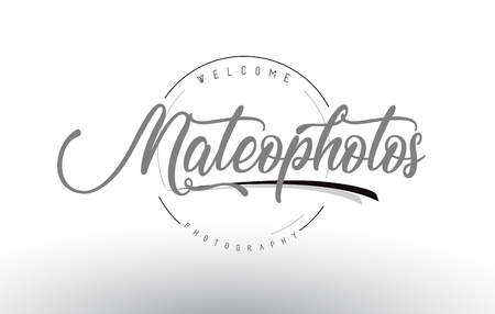 Mateo Personal Photography Design with Photographer Name and Handwritten Letter Design.