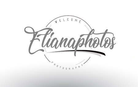 Eliana Personal Photography Logo Design with Photographer Name and Handwritten Letter Design.