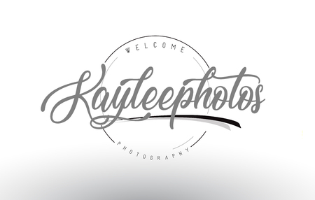 Kaylee Personal Photography Logo Design with Photographer Name and Handwritten Letter Design.