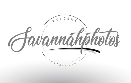 Savannah Personal Photography Logo Design with Photographer Name and Handwritten Letter Design. Zdjęcie Seryjne - 92248763