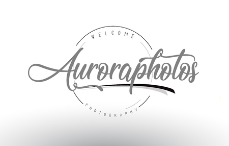 Aurora Personal Photography Logo Design with Photographer Name and Handwritten Letter Design.